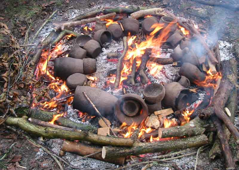 Fire Clay Pottery : Bill crumbleholme bronze age pots new years eve